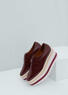 Contrast platform shoes