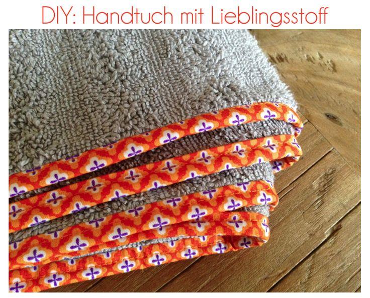 Wollt ihr auch in Zukunft lieber ein Handtuch mit einer Borte aus eurem Leblingsstoff benutzen? Dann zeig ich euch, wie es geht.