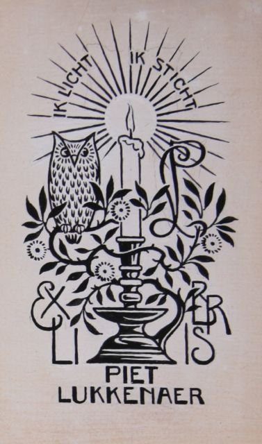 Ex-libris Piet Lukkenaer (Collectie Marilies Jacobs, Zeist)