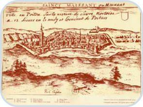 Saint-Maixent l'Ecole 79.- En 1337, on retrouve un Constantin Asse, chevalier anglais, seigneur d'Augé du Plessis, depuis appelé le Plessis-Asse,et de Sazay (Azay le Brûlé ?), ces diverses terres situées dans le pays de St-Maixent ou aux environs, qui servit dans la campagne de Jean l'Archevêque avec 4 écuyers. Il était le 4 octobre 1357 capitaine du chateau de St-Maixent pour le roi de France et épousa Olive de Volvire dont il eut pour fils un nouveau Constantin.