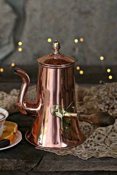 Vintage Copper French Coffee Pot c. 1880