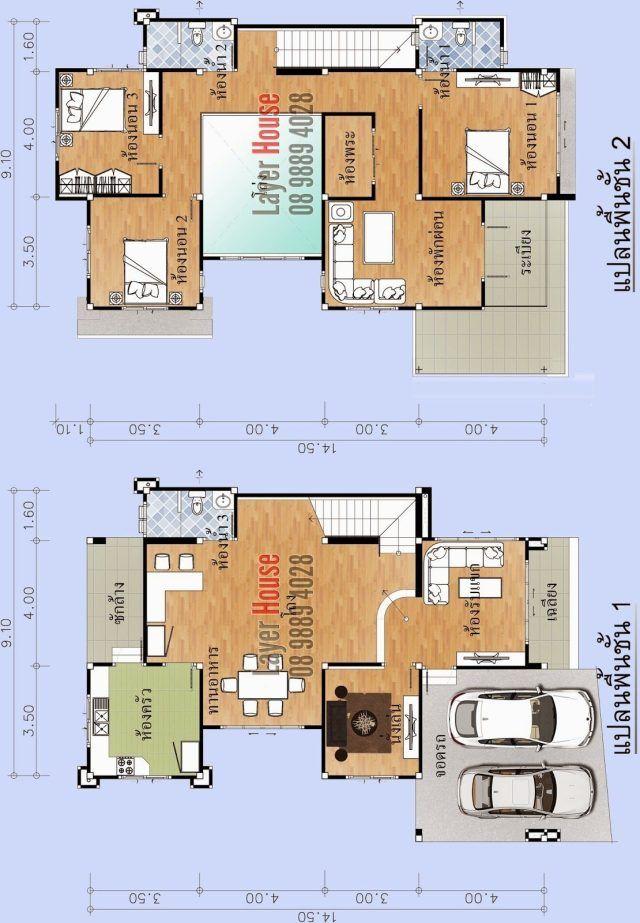 House Plans Idea 11x15 6m With 3 Bedrooms House Plans House Home Design Plans