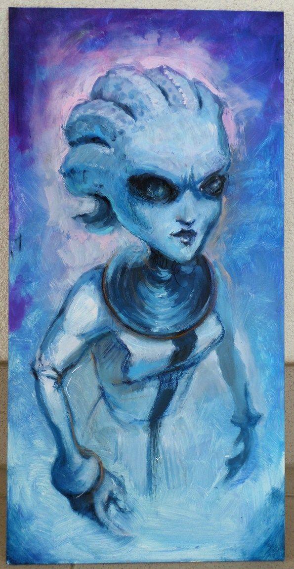 Mass Effect Asari painting