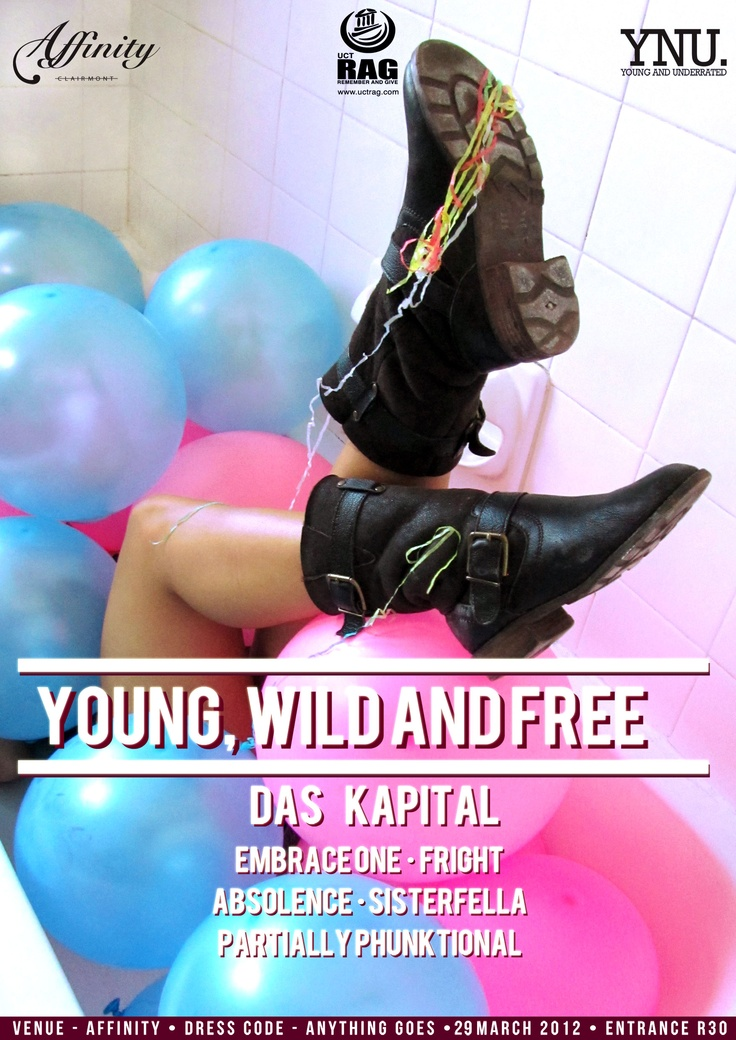 poster design for a club - idea behind it is young wild a free and just having fun.