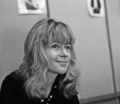 Polskie Radio, Maria Czubaszek w studiu przy ulicy Myśliwieckiej.