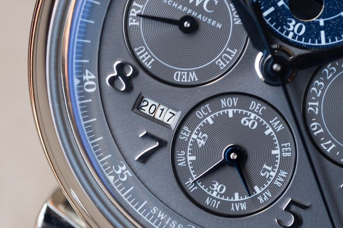 IWC Da Vinci Perpetual Calendar Chronograph, In Steel lower dial