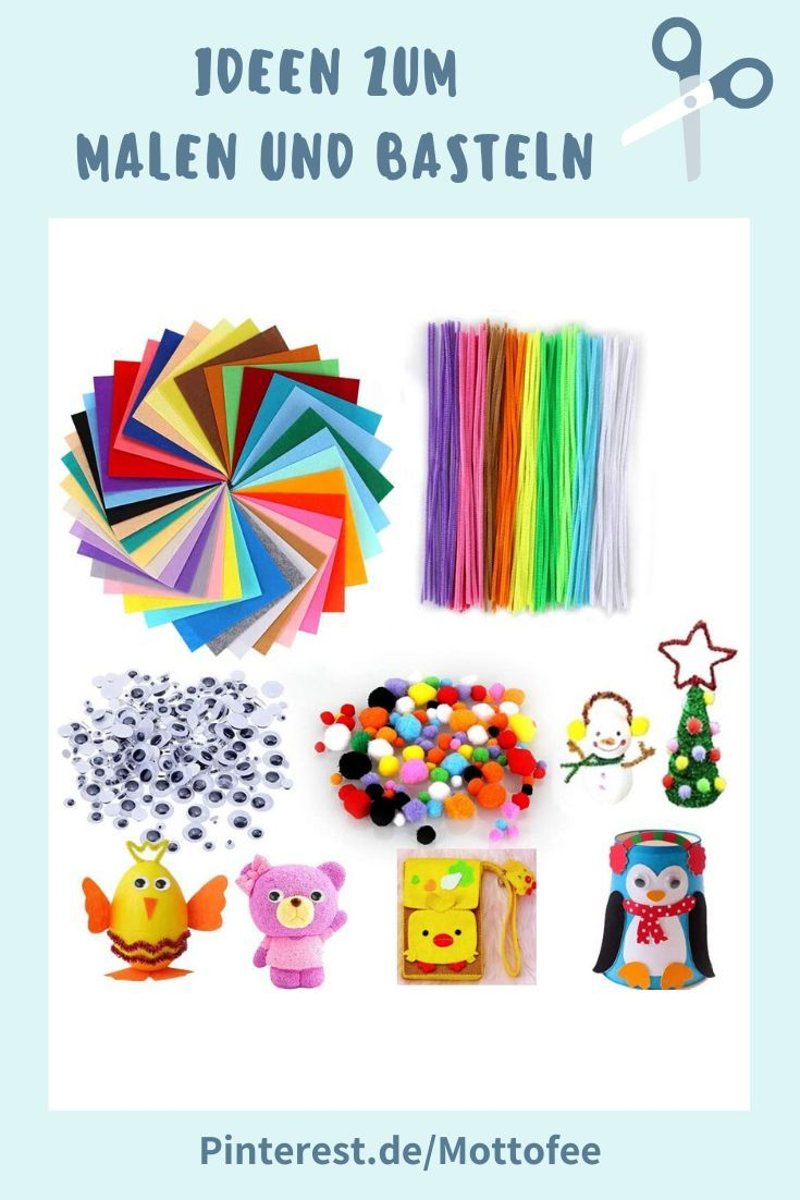 540 Teiliges Kinder Bastelset 40 Farben Bastelfilz 100 Pfeifenreiniger Chenilledraht 200 Pompon In 2020 Basteln Pfeifenreiniger Bastelsets