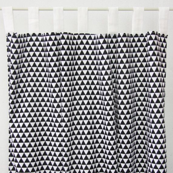 Black Triangle Curtain Panels by CadenLaneBabyBedding on Etsy