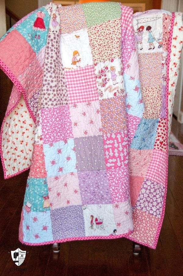 Simple Patchwork Quilt Tutorial
