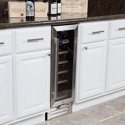 Whynter 18-Bottle Built-In Wine Refrigerator in Stainless Steel-BWR-18SD - The Home Depot