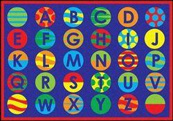 Alphabet Patterns Classroom Rug