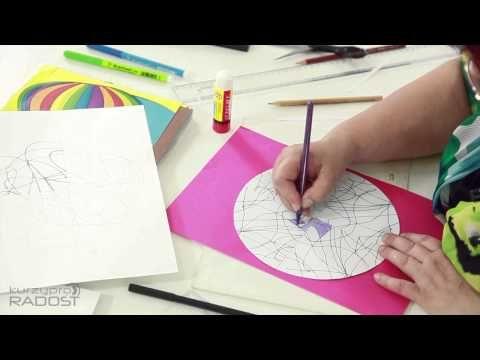 Mandaly - kreslení a vybarvování - díl 1 - YouTube
