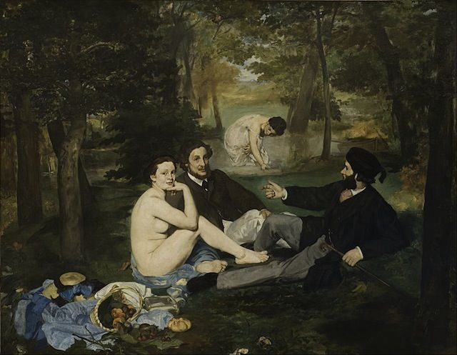 Édouard Manet est né le 23 janvier 1832 à Paris.  La plupart de ses œuvres sont rejetées par le Salon des Indépendants et font l'objet de controverses parmi les critiques, notamment ses plus célèbres peintures comme Le Déjeuner sur L'Herbe (1862-1863) et Olympia (1863).
