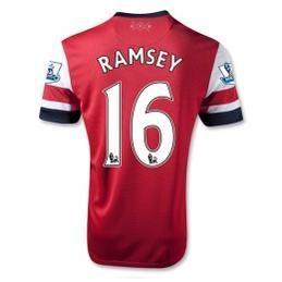 12/13 Arsenal #16 Ramsey Home Red Soccer Jersey Shirt Replica