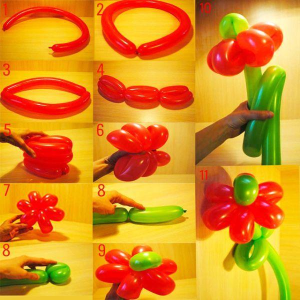 Flor De Balao Passo A Passo 30 Modelos Com Imagens Flores De