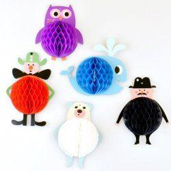 Little Boo-Teek - Clocks, Lighting & Decor OMM Design Honeycomb Character Parade - Cream $24.95  www.littlebooteek.com.au #littlebooteek #presents #kids #baby