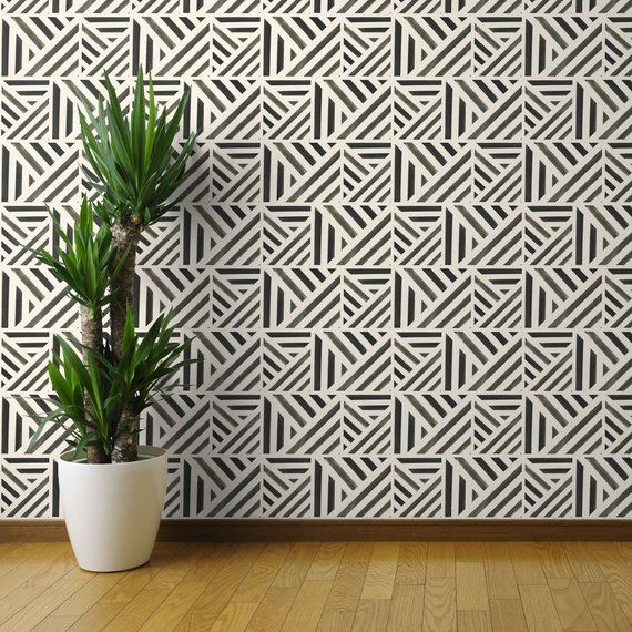 Black And White Wallpaper Watercolor Stripe Black By Crystal