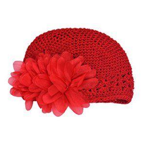 Bonnet Bebe, Koly Fleur Bambins Infant Baby Girl Band Dentelle Bandeau Cheveux Chapeaux Hat Crochet (Rouge): Tweet Caractéristique: 100%…