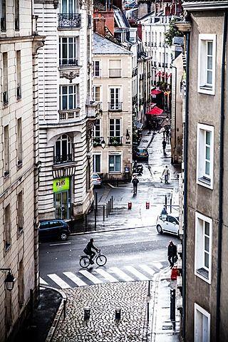 Bouffay district in the downtown of Nantes, Pays de la Loire, France, Europe