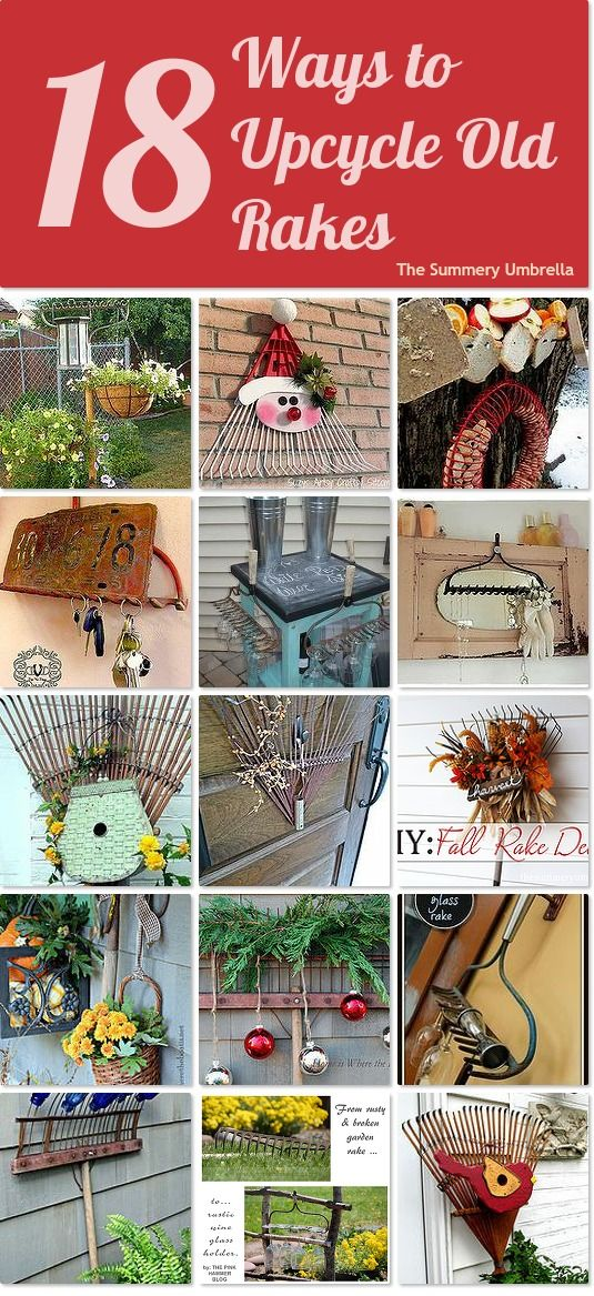 18 ideas for upcycling old rakes