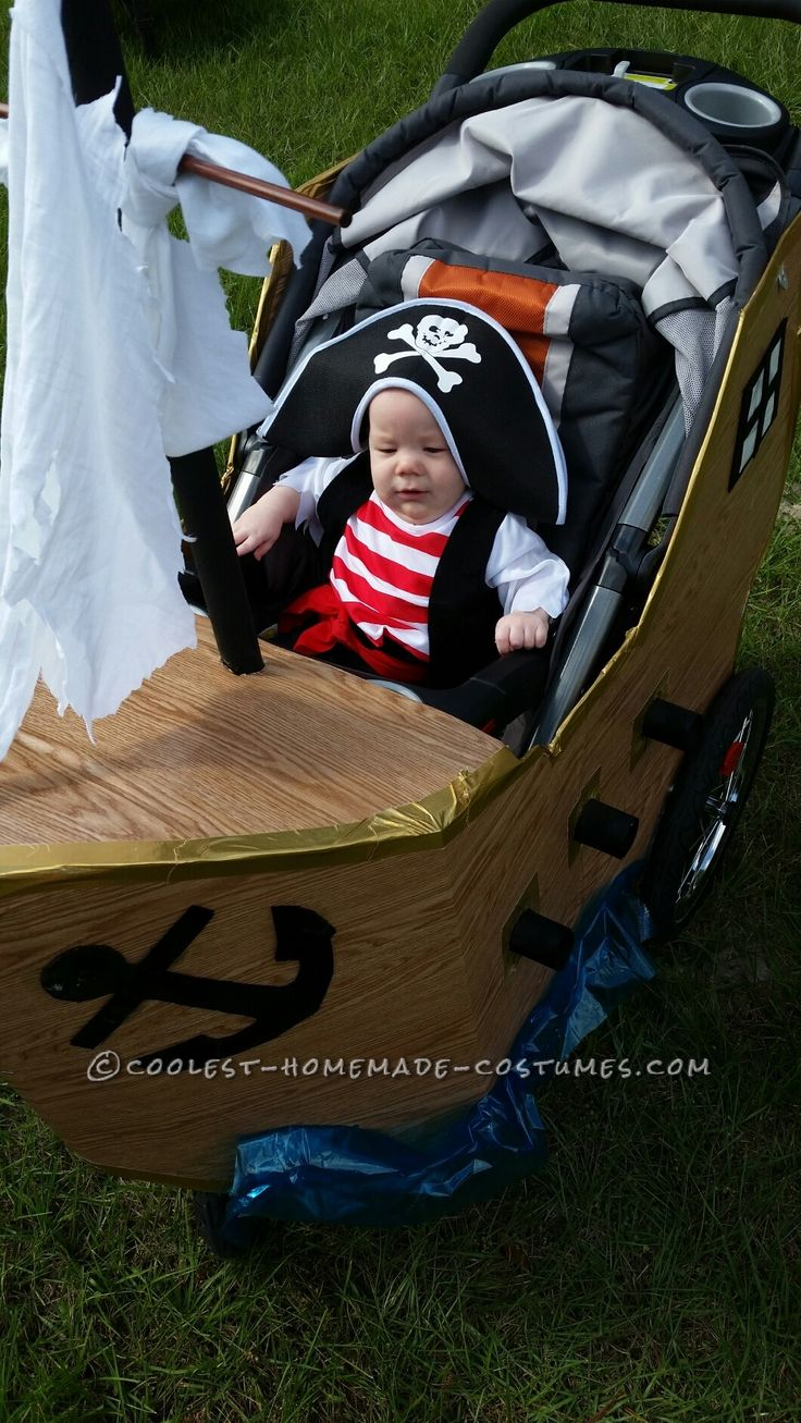 Infant Pirate Ship Stroller Costume... Coolest Halloween Costume Contest