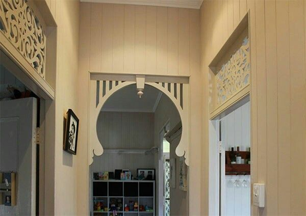 Lovely VJ walls throughout and traditional period breezeways above the doors are some of my favourite adornments in the house, the future Holmstead
