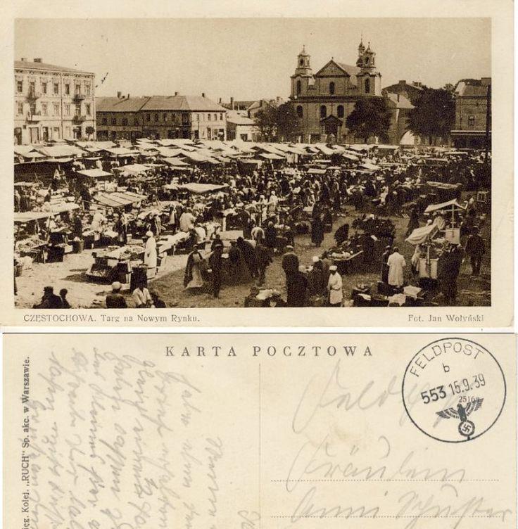 Czestochowa Nowy Rynek feldpost 1939 A143 (6066416780) - Allegro.pl - Więcej niż aukcje.