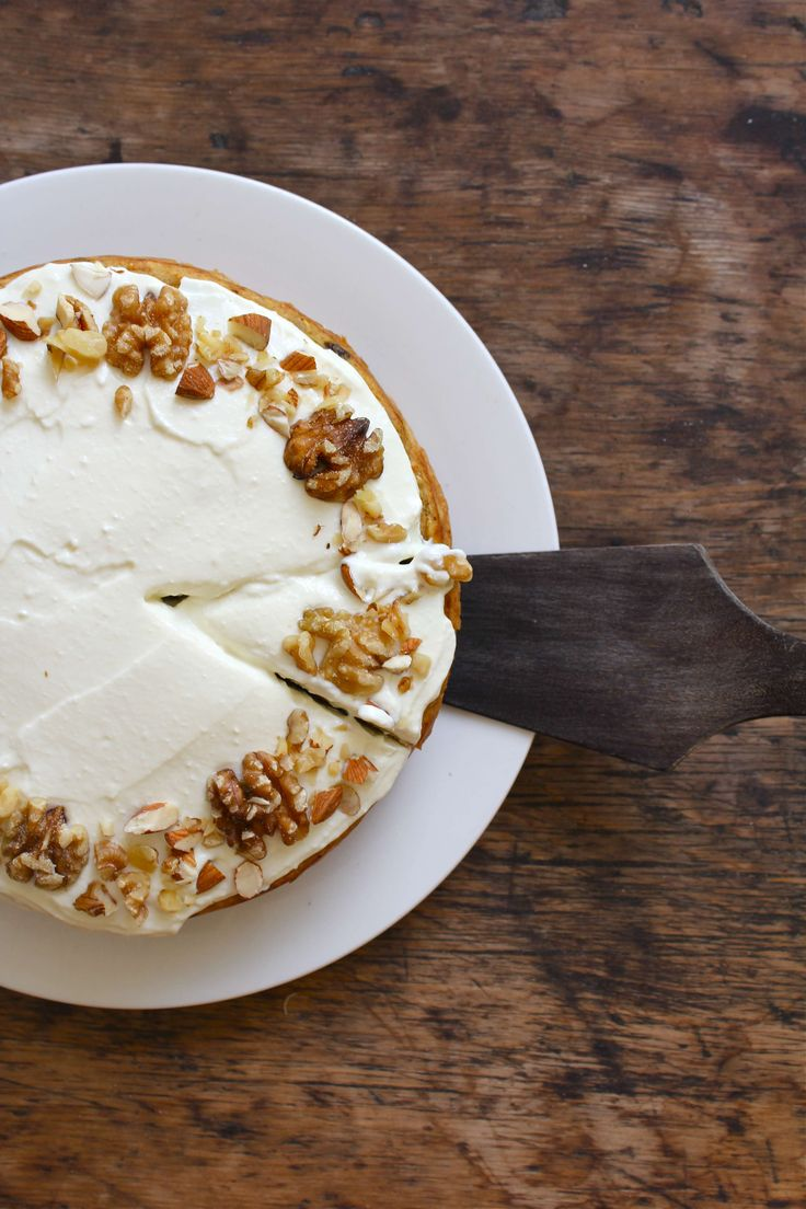 banana carrot cake with ricotta honey frosting! easily made GF with ...