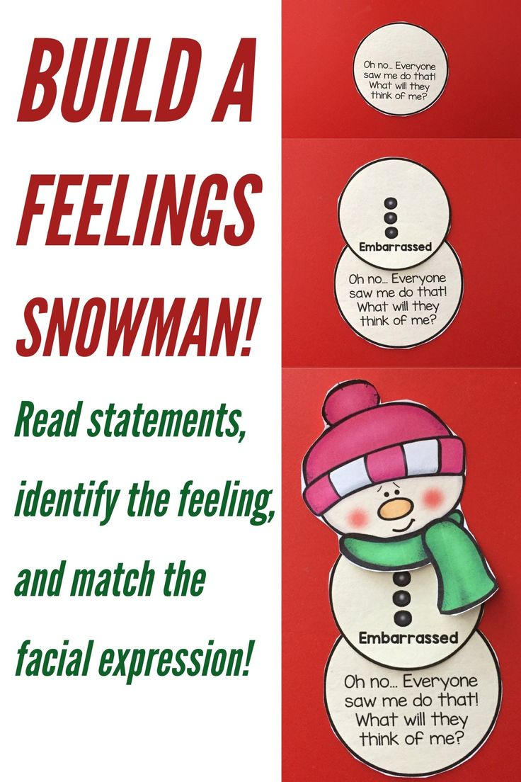 These winter snowman feelings matching activities are perfect for emotion identification in early elementary school! This resource contains 9 emotion puzzles in color and black and white! These are great for individual counseling, small group counseling, or centers in whole group classroom guidance lessons. This is a great activity for elementary school counseling classroom guidance or small group counseling around Christmas and the holidays!