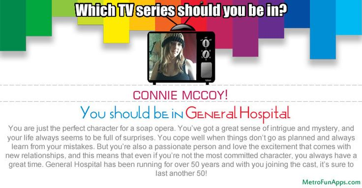 Which TV series should you be in? Let's find Which TV series should you be in.