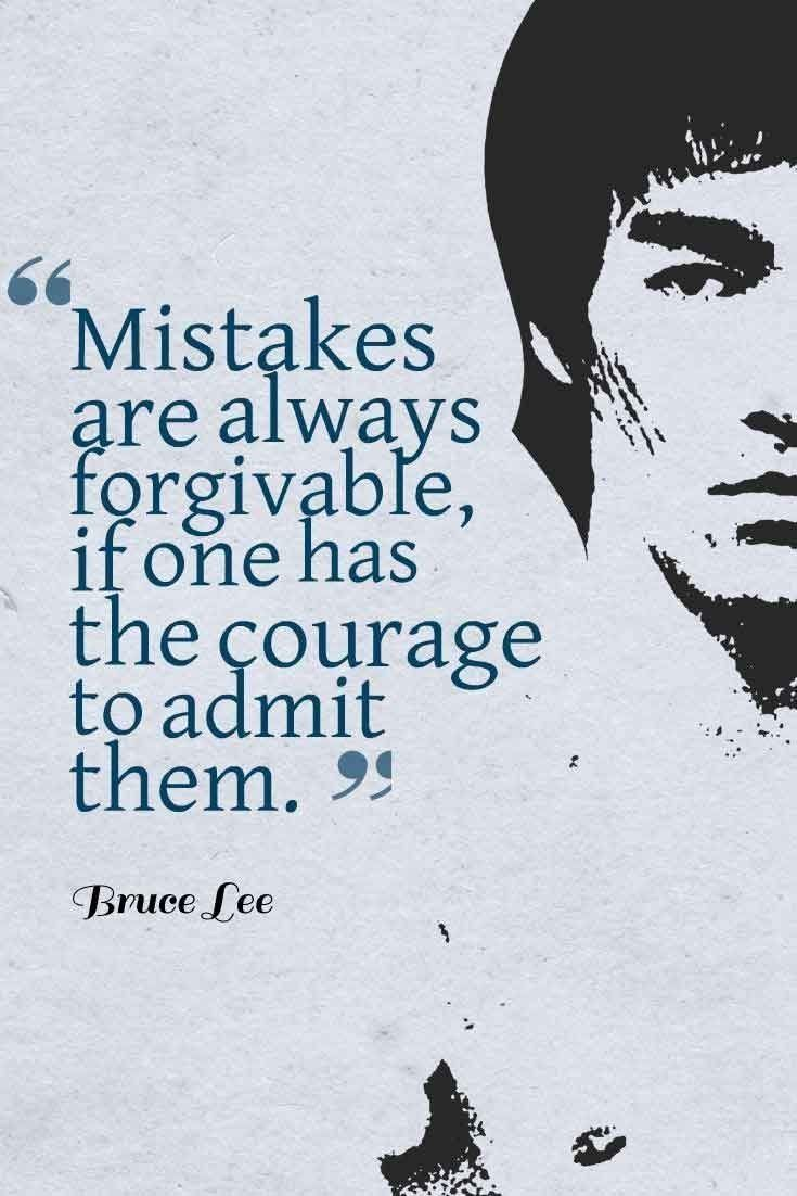 70 Quotes to Inspire Us to Let Go 4. Mistakes