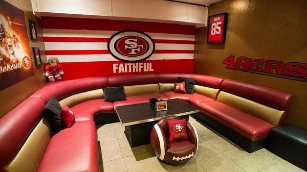 "49ers man cave! - It doesn't have to be a ""man's cave""... just saying"