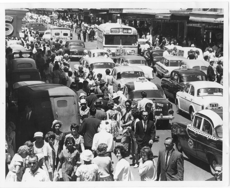 Vintage Adelaide. Before the street was closed and became Rundle Mall
