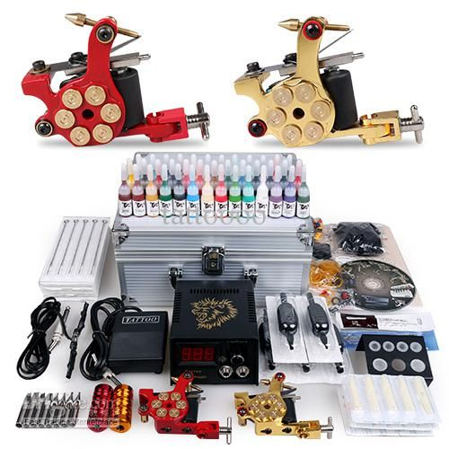 Tattoo Machine Coils Professional Complete Tattoo Kit Gun 2 Machines Inks Sets Disposable Needles Power Supply Tips Grips Usa Best Cheap Tattoo Machine From Tattoooo, $86.71| Dhgate.Com