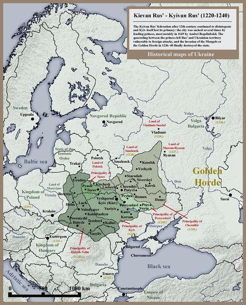 Kievan Rus', Kyivan Rus', Ukraine map