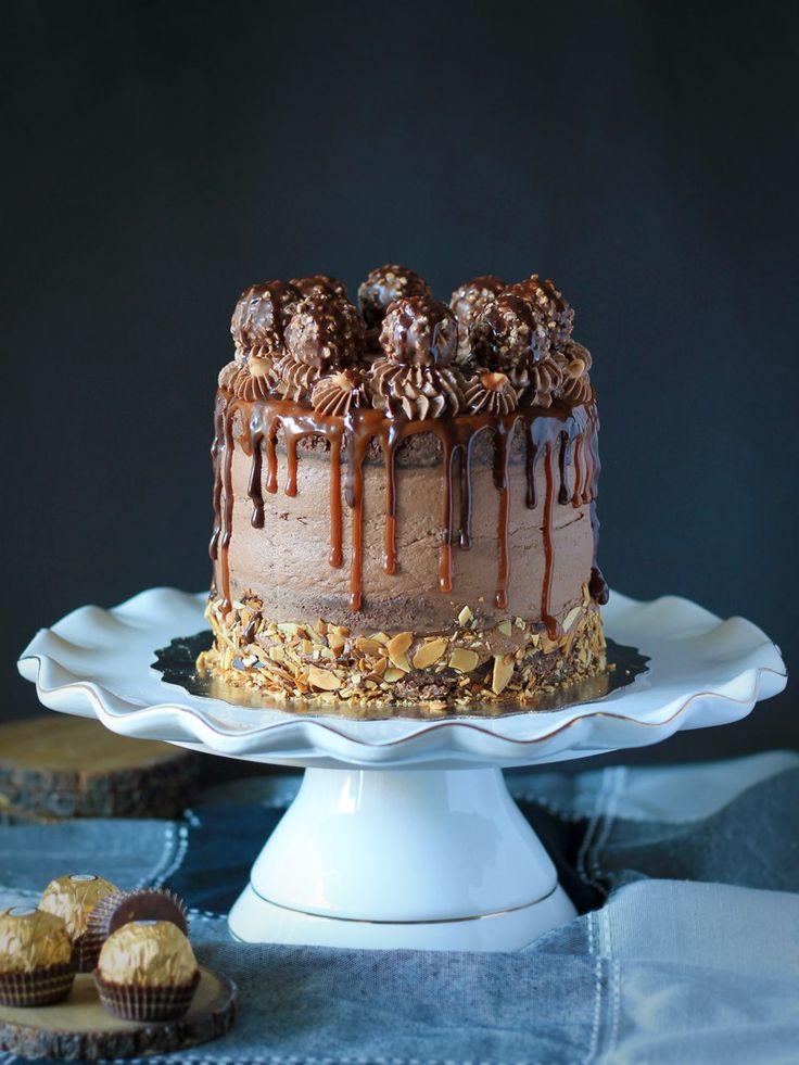 Chocolate Nutella Ferrero Layer Cake