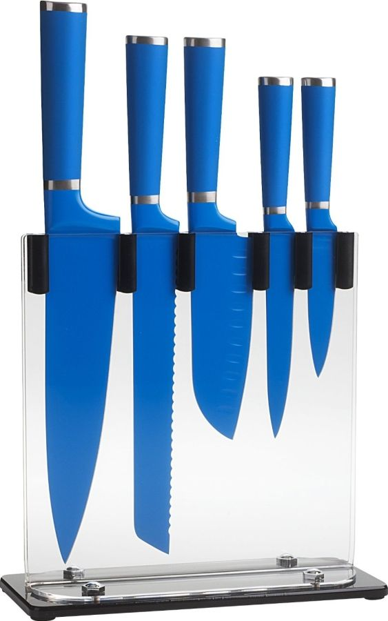 5 Piece Knife Block Set Great Ceramic