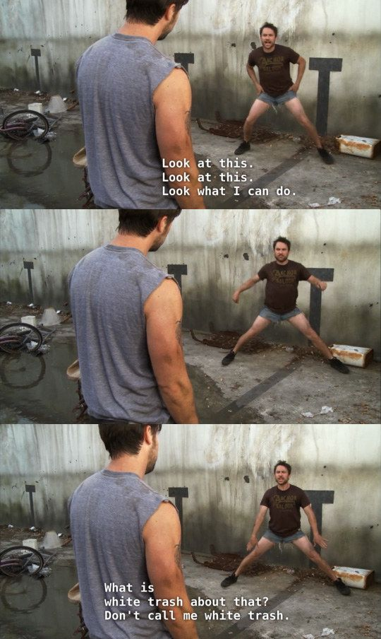"When pulled off the denim shorts look. | 23 Times Charlie Kelly Was The Champion Of Our Hearts On ""It's Always Sunny In Philadelphia"""
