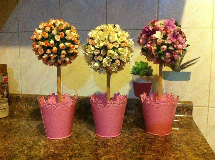 Topiarios muy románticos! Ideales para decorar el ambiente que desees!