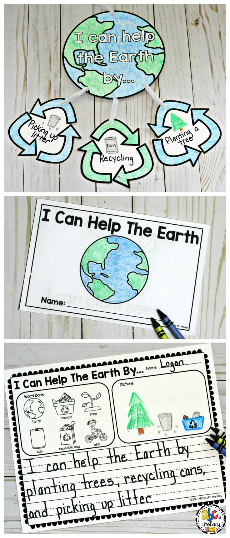 Celebrate Earth Day this year with these fun and creative activities that will get Elementary kids to think, write, and read about how they can help the Earth. This Earth Day packet includes a craft, writing prompt, printable book, and more. Preschoolers, Kindergarteners, First Graders, and Second Graders will love coloring and creating these projects. And, you'll like how easy these activities are to add to your lesson plans. Click on the picture to learn more about these teaching…