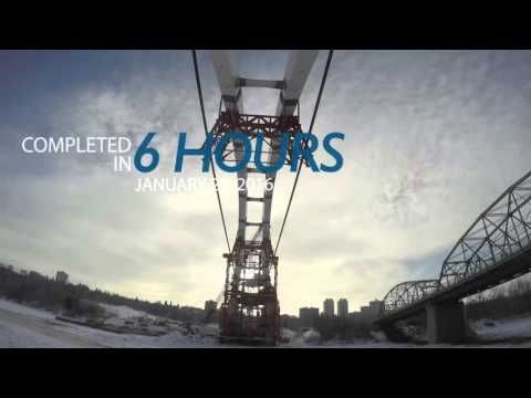 Time lapse of the lifting of the arches on the Walterdale bridge, Jan. 25, 2016. #yeg