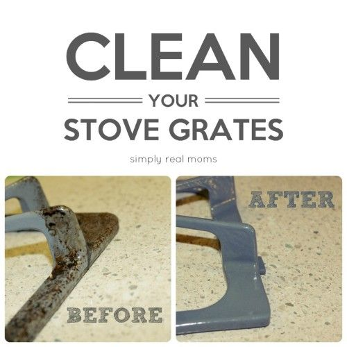 AMAZING TRANSFOMATION! #clean your stove grates with almost no elbow grease! Tried and tested, this REALLY works!