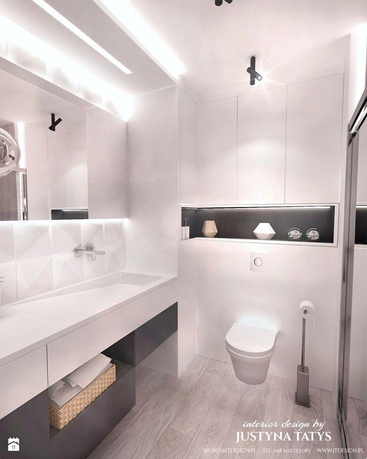 Biała łazienka - zdjęcie od JT DESIGN Justyna Tatys