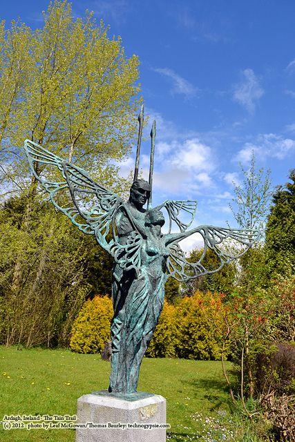 Statues of Faerie King & Queen, Etain & Midir, Ardagh, Ireland.