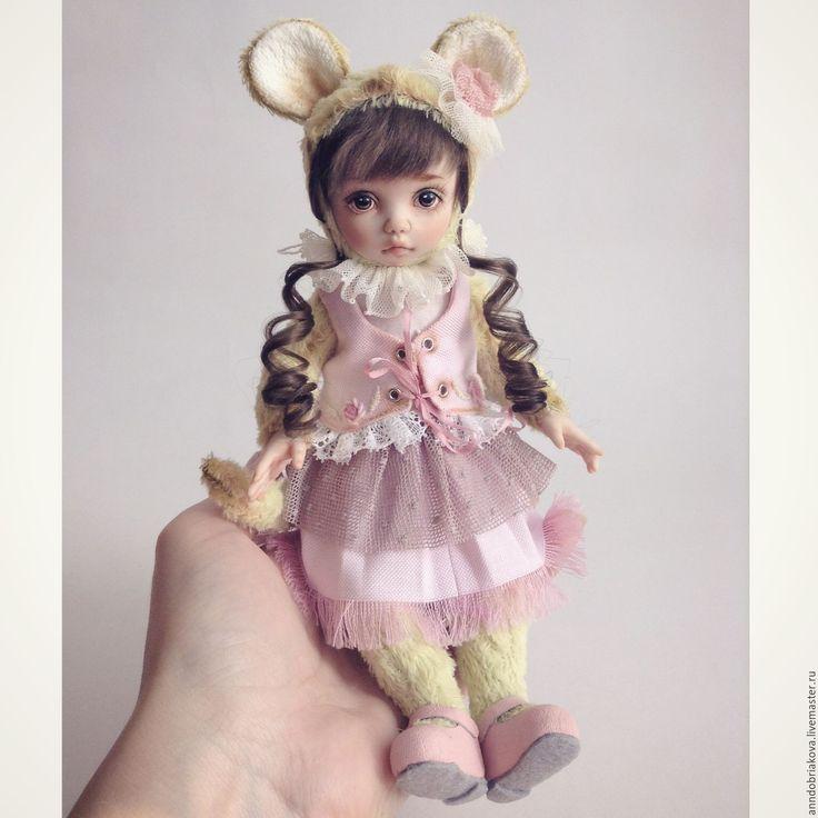 Купить Шарлотта. Тедди-долл мышка. - тедди-долл, тедди долл, кукла, авторская кукла