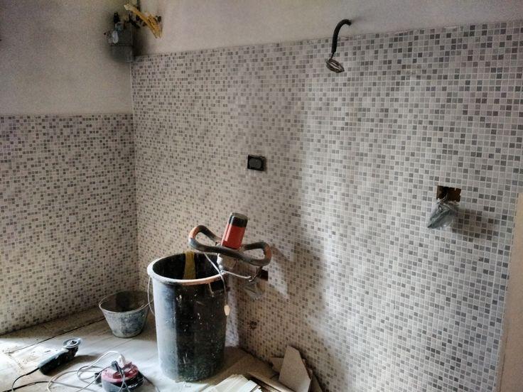 nuovo #rivestimento #cucina in #mosaico su piastrella 20x40