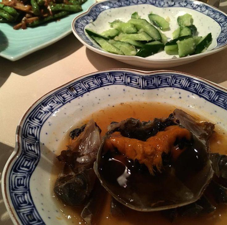 生の蟹を紹興酒に漬け込んだ大間蟹美味堪能 #酔っ払い蟹#蟹#夜上海#大間蟹#マルコポーロホテル#hongkong#crab