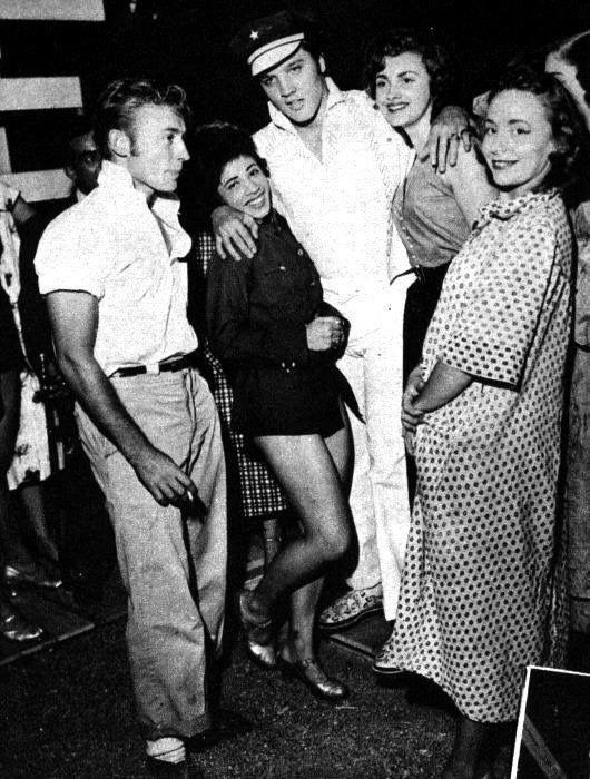 Elvis at the Mid-South Fair in Memphis, Sept.29, 1956. .. and Nick Adams