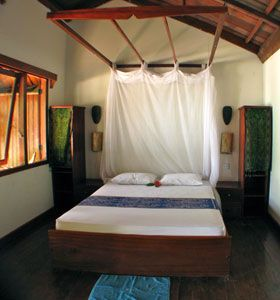 Accommodation in Indonesia - Black Marlin Diving Sulawesi Indonesia on Togian islands. Excellent price and lovely style. Food included (3 meals), 20eu a night per person. Great diving and even better, nice shallow coral for good snorkelling
