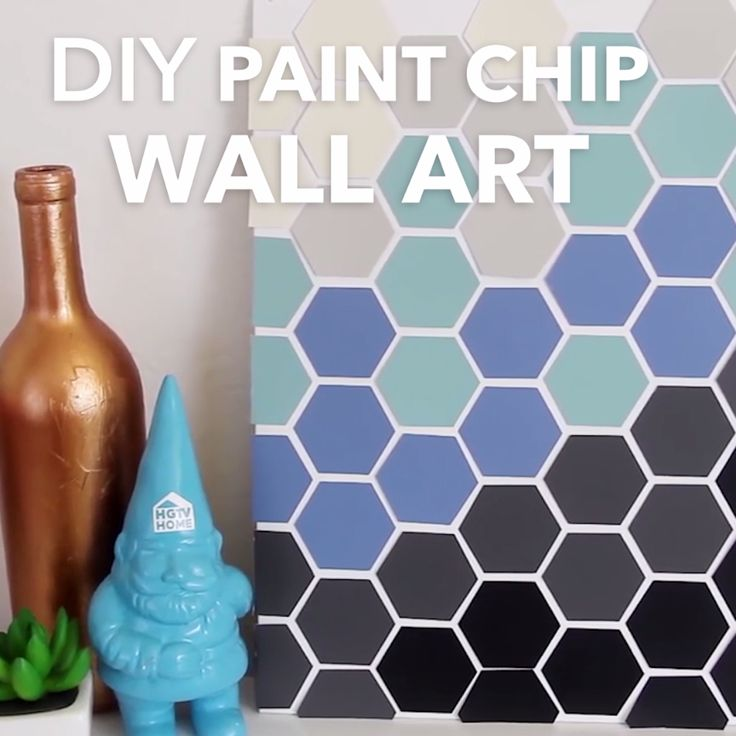 DIY Paint Chip Wall Art, or something creative with paint samples